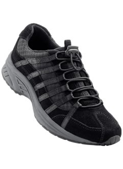 Ledertrekkingschuh, bpc bonprix collection, schwarz