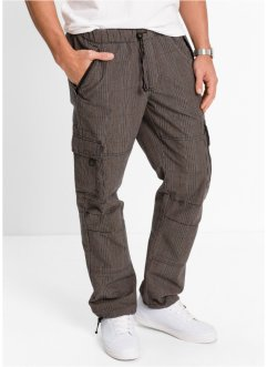 Cargo-Schlupfhose Loose Fit Straight, bpc bonprix collection, kariert