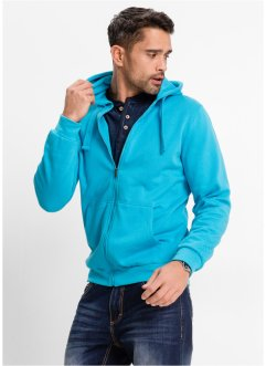 Sweatjacke mit Kapuze, Regular Fit, bpc bonprix collection, türkis
