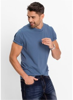 T-Shirt (3er-Pack), Regular Fit, bpc bonprix collection, weinbeere+jeansblau+weiß