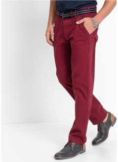 Chino-Stretchhose, Slim Fit Straight, bpc bonprix collection, bordeaux