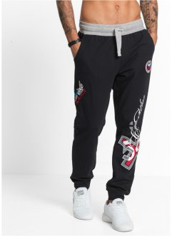 Jogginghose Slim Fit, RAINBOW, schwarz