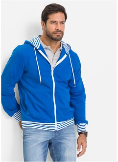 Sweatjacke Regular Fit, bpc bonprix collection, azurblau