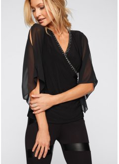 Bluse mit Glitzersteinen, BODYFLIRT boutique