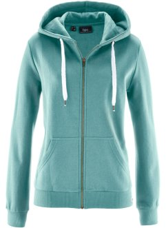 Sweatjacke, bpc bonprix collection, mineralblau