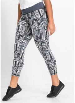 Funktions-Leggings, 7/8-Länge, bpc bonprix collection, schwarz gemustert