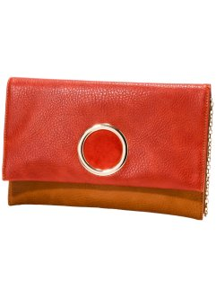 Clutch, bpc bonprix collection, rot/cognac