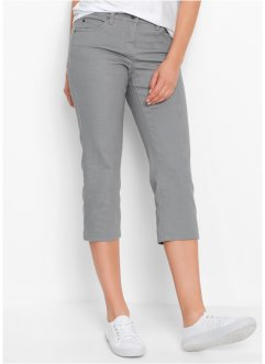 3/4-Stretchhose aus strukturiertem Twill, bpc bonprix collection, grau
