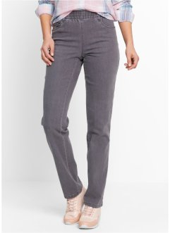 Stretchhose (2er-Pack), bpc bonprix collection, grey denim+schwarz