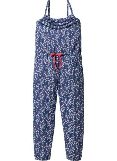 Jumpsuit, bpc bonprix collection, indigo/wollweiß bedruckt