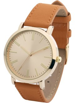 Uhr, bpc bonprix collection, cognac