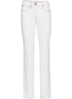 Stretch-Jeans Straight, John Baner JEANSWEAR, weiss twill
