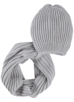2 tlg. Set Beanie und Loop, bpc bonprix collection
