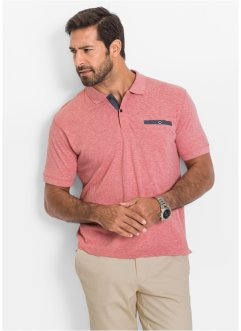 Poloshirt Regular Fit, bpc selection, rot meliert