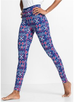 Lange Funktions-Leggings, bpc bonprix collection, enzianblau gemustert