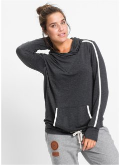 Leichtes Sweatshirt mit langen Ärmeln, bpc bonprix collection, anthrazit meliert