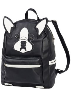 Rucksack in Tieroptik, bpc bonprix collection, schwarz Hund