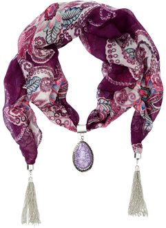 Schmuck-Schal mit Bommel, bpc bonprix collection, lila