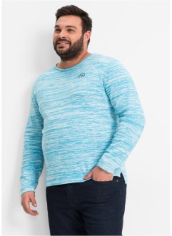 Pullover Regular Fit, bpc selection, türkis/wollweiß meliert