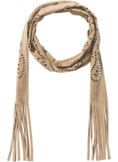 Skinny Schal mit Lasercut, bpc bonprix collection, beige