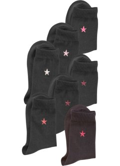 Arizona Damensocken (7er-Pack), Arizona, 7x schwarz/beere