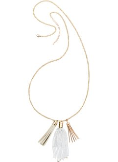 Kette mit Fransen, bpc bonprix collection, goldfarben/creme