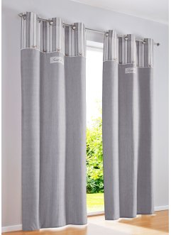 Bio Baumwoll Vorhang mit Druck (1er Pack), bpc living bonprix collection