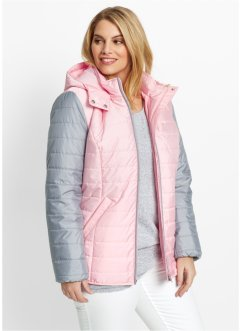Zweifarbige Stepp-Jacke, bpc bonprix collection, puderrosa