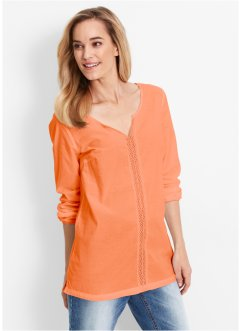 Langarm-Bluse, bpc bonprix collection, nektarine