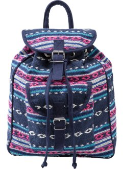 Baumwoll-Rucksack, bpc bonprix collection, blau/pink