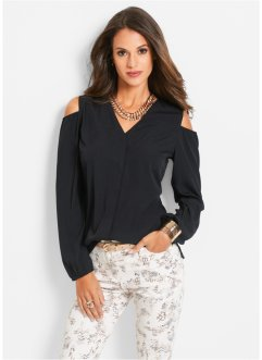 Bluse mit Cut-Outs, bpc selection, schwarz