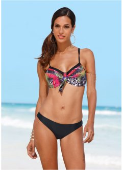 Minimizer Bügel Bikini (2-tlg. Set), bpc selection, schwarz/grau