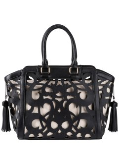 Henkeltasche Lasercut, bpc bonprix collection, schwarz