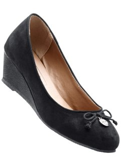 Keilballerina, bpc bonprix collection, schwarz