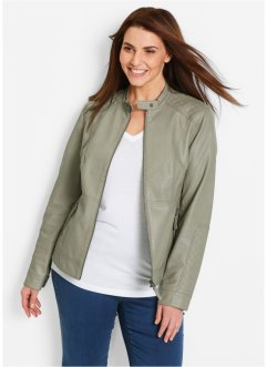 Lederimitat-Jacke, bpc bonprix collection, new khaki