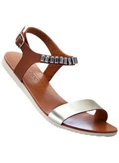 Sandale, bpc bonprix collection, camel/silber
