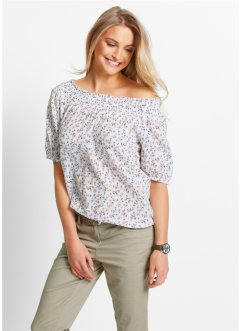 Carmen-Bluse mit 3/4-Ärmeln, bpc bonprix collection