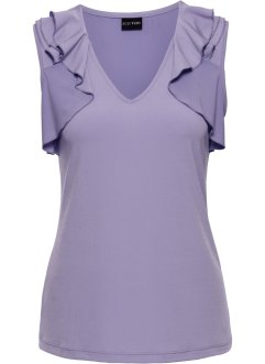 Blusen-Top mit Volants, BODYFLIRT, lila