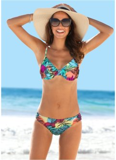 Bikinihose, bpc bonprix collection, pink/blau bedruckt