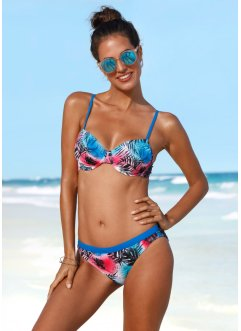 Bikinihose, bpc bonprix collection, blau/rot
