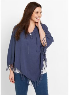Strick-Poncho, bpc bonprix collection, indigo