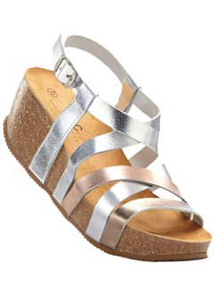 Ledersandale, bpc bonprix collection, silber metallic
