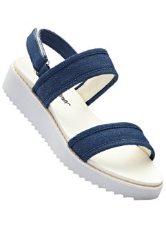 Freizeitsandale, bpc bonprix collection, jeansblau