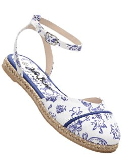 Espadrille, bpc bonprix collection, weiß/saphirblau