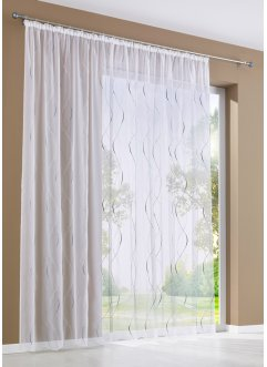 Transparente Gardine mit Stickerei, bpc living bonprix collection