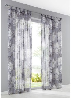 Gardine mit Blumen Druck (1er Pack), bpc living bonprix collection