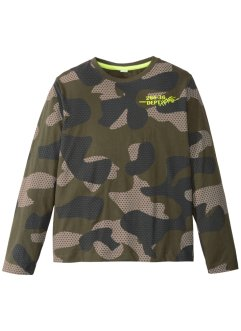Langarmshirt mit Camouflagedruck, bpc bonprix collection