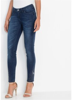 Push-up-Stretch-Jeans mit Deko-Steinchen, BODYFLIRT