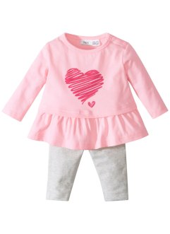 Baby Langarmshirt + Leggings (2-tlg.) Bio-Baumwolle, bpc bonprix collection