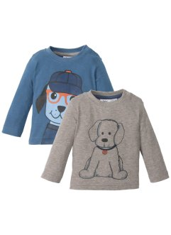 Baby Langarmshirt (2er-Pack) Bio-Baumwolle, bpc bonprix collection
